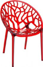 Thermo Plastic Crystal Chair - Red